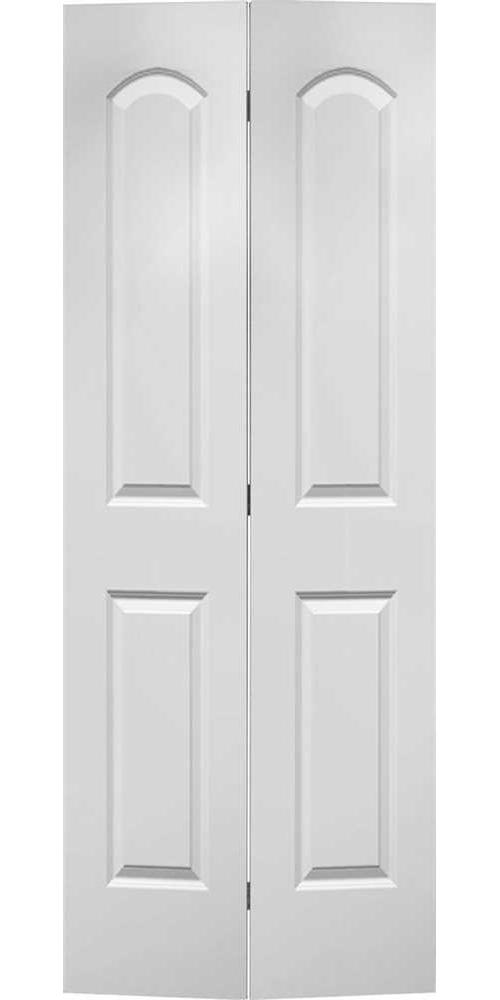MASONITE ROMAN HOLLOW CORE BI-FOLD DOOR SMOOTH FINISH 2 PANEL PRIMED WHITE 80X30 IN. / Each