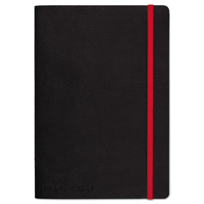 Soft Cover Notebook, Legal Rule, Black Cover, 8 1/4 x 5 3/4, 71 Sheets/Pad