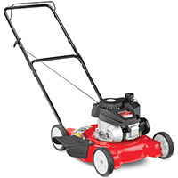 Yard Machines 11A-02SB700 Lawn Mower, 20 in W x 1-1/4 to 3-3/4 in H Cutting, 140 cc 4-Cycle OHV Engine, 0.8 qt Gas