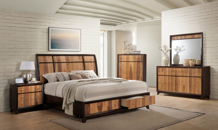 Ava 2-Tone Brown & Natural Dresser