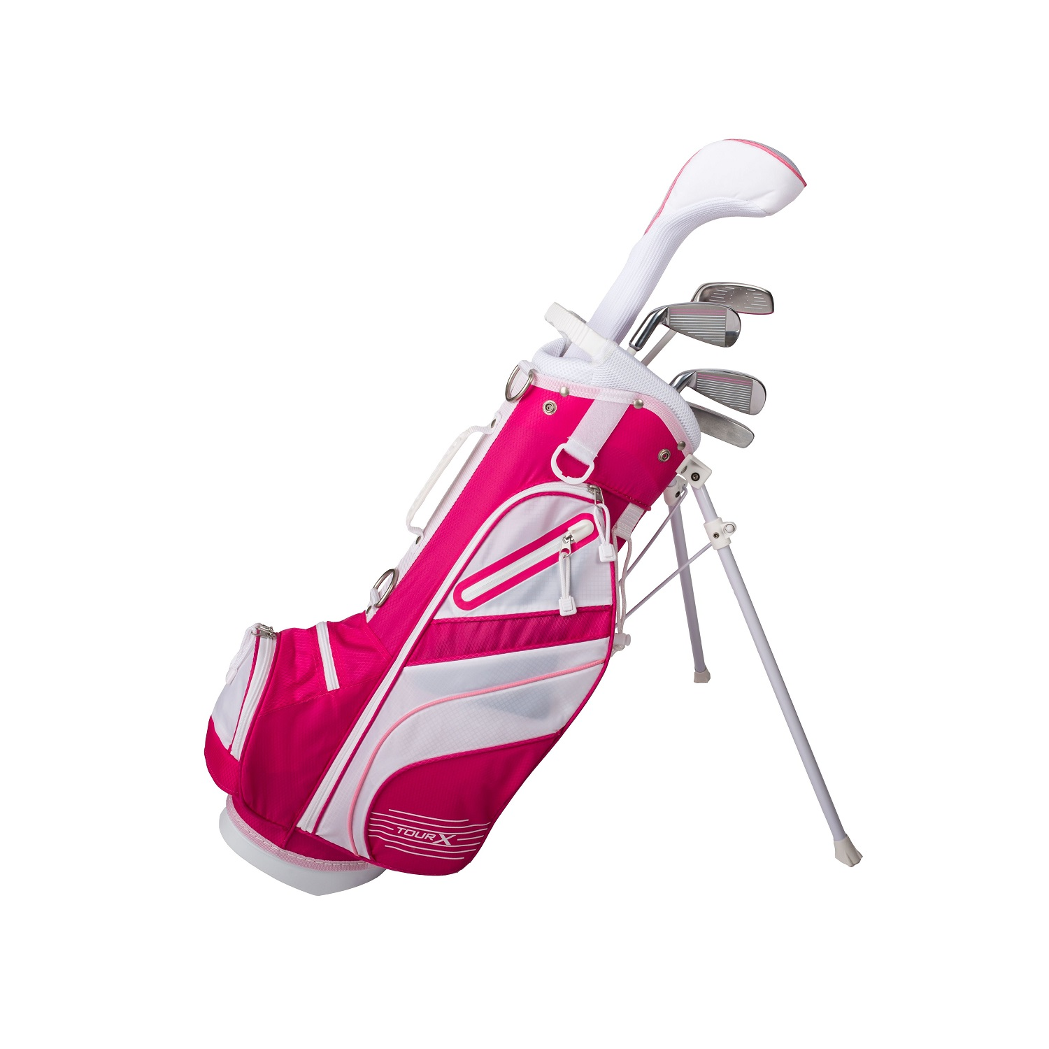 Tour X Size 1 Pink 5pc Jr Golf Set w/Stand Bag
