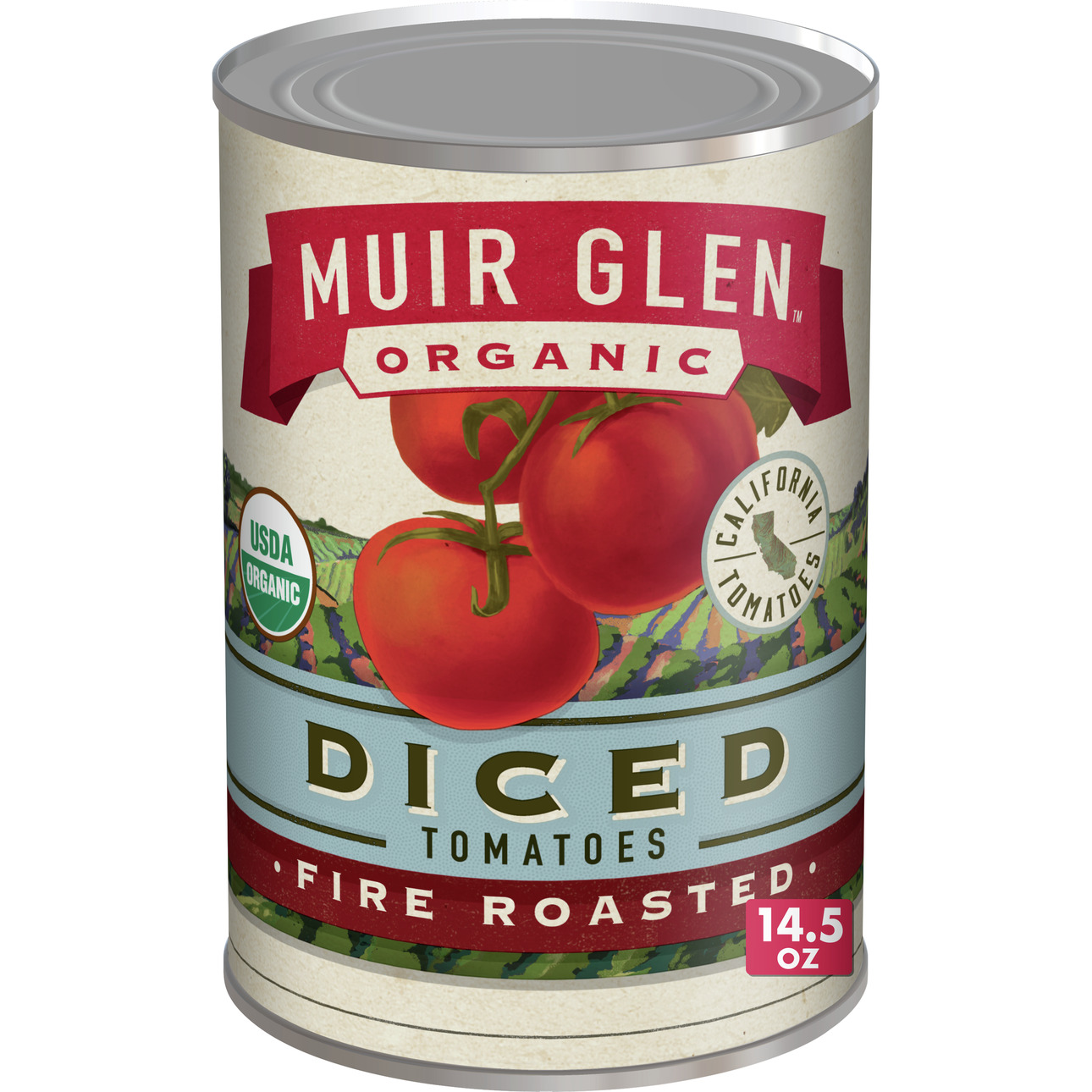 Muir Glen Diced Fire Roasted Tomato (12x14.5 Oz)