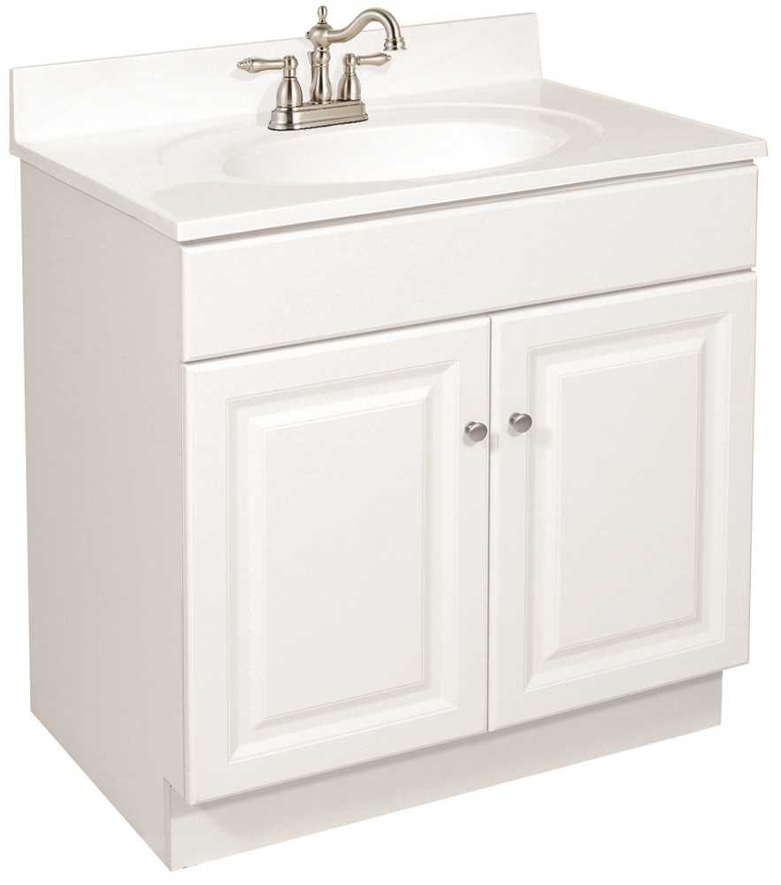 "30 x 21"" Wyndham Bathroom Vanity Cabinet, Ready To Assemble, 2 Door, White"