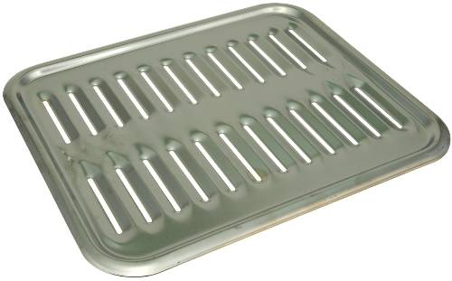PORCELAIN-ENAMELED STEEL BROILER PAN, 12-3/4X15-1/4X1-1/2""