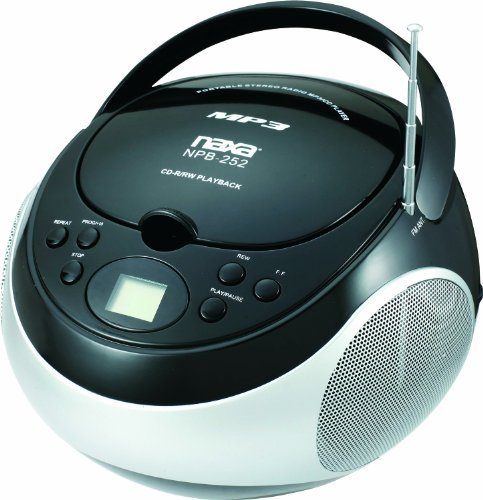 NAXA NPB-252-BLK PORTABLE MP3 CD PLAYER WITH AM FM RADIO