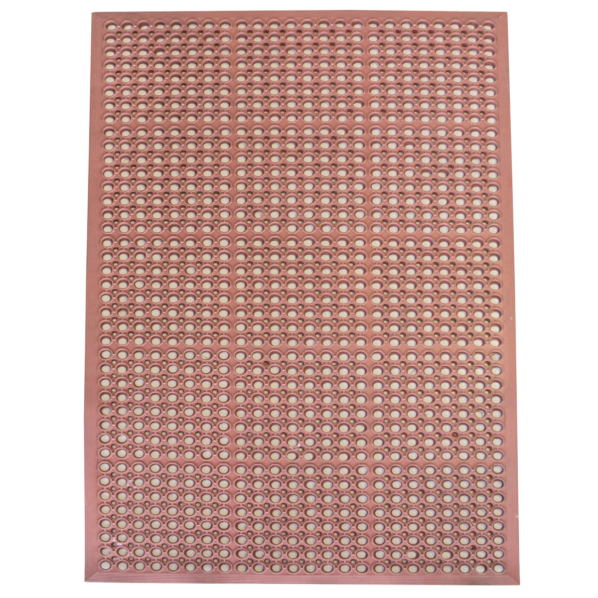 3 x 5 Foot Industrial Rubber Floor Mat - Red