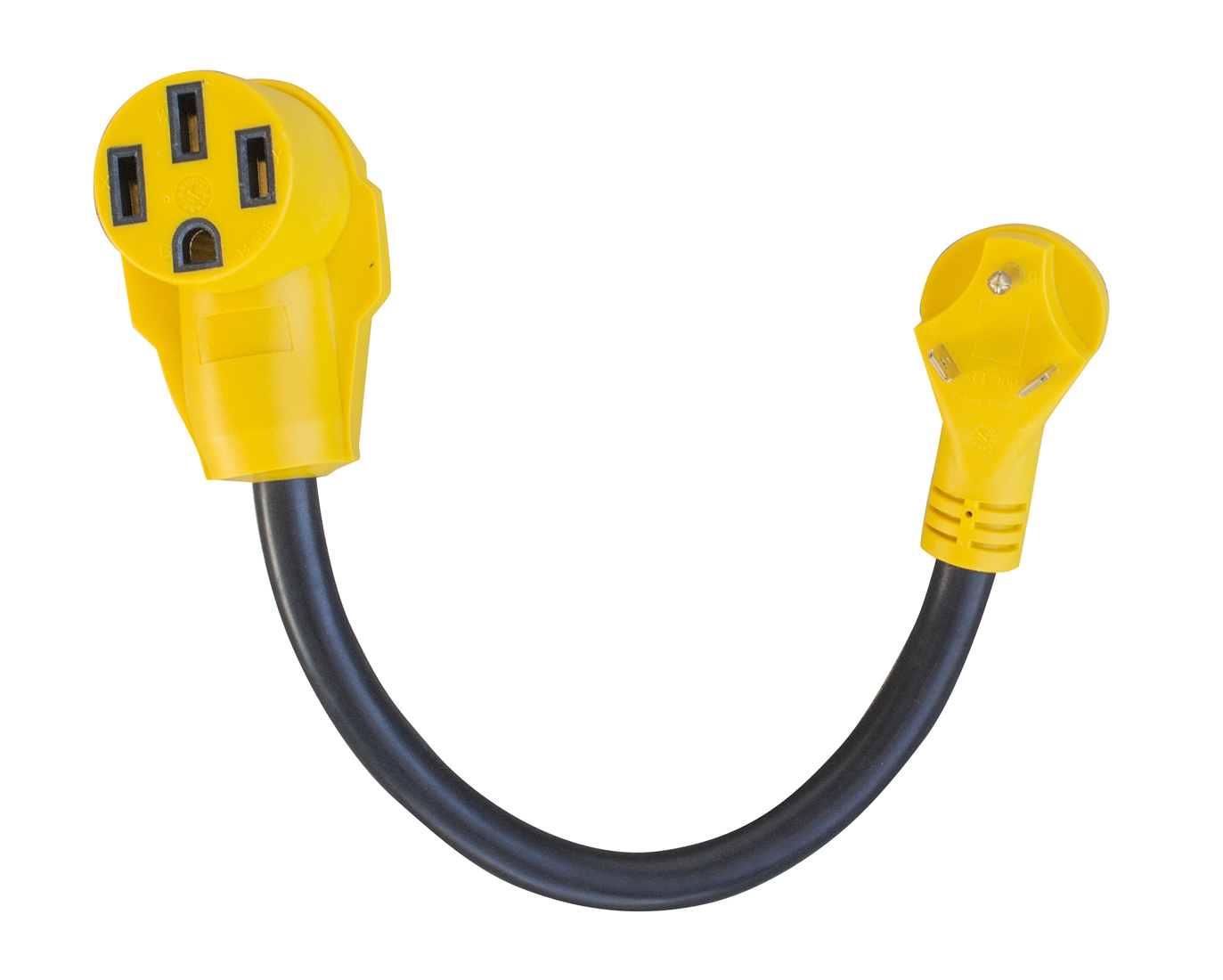 18 in. 125 Volt 30 Amp Male to 50 Amp Female Dog-bone RV Camper Power Cable
