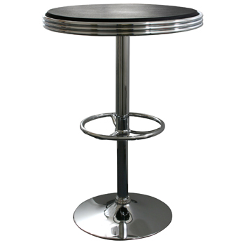 AmeriHome Soda Fountain Style Bar Table - Black