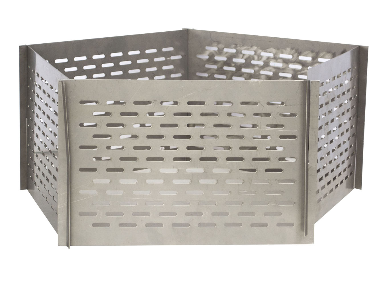 Portable 5 Panel Interlocking Stainless Steel Fire Pit