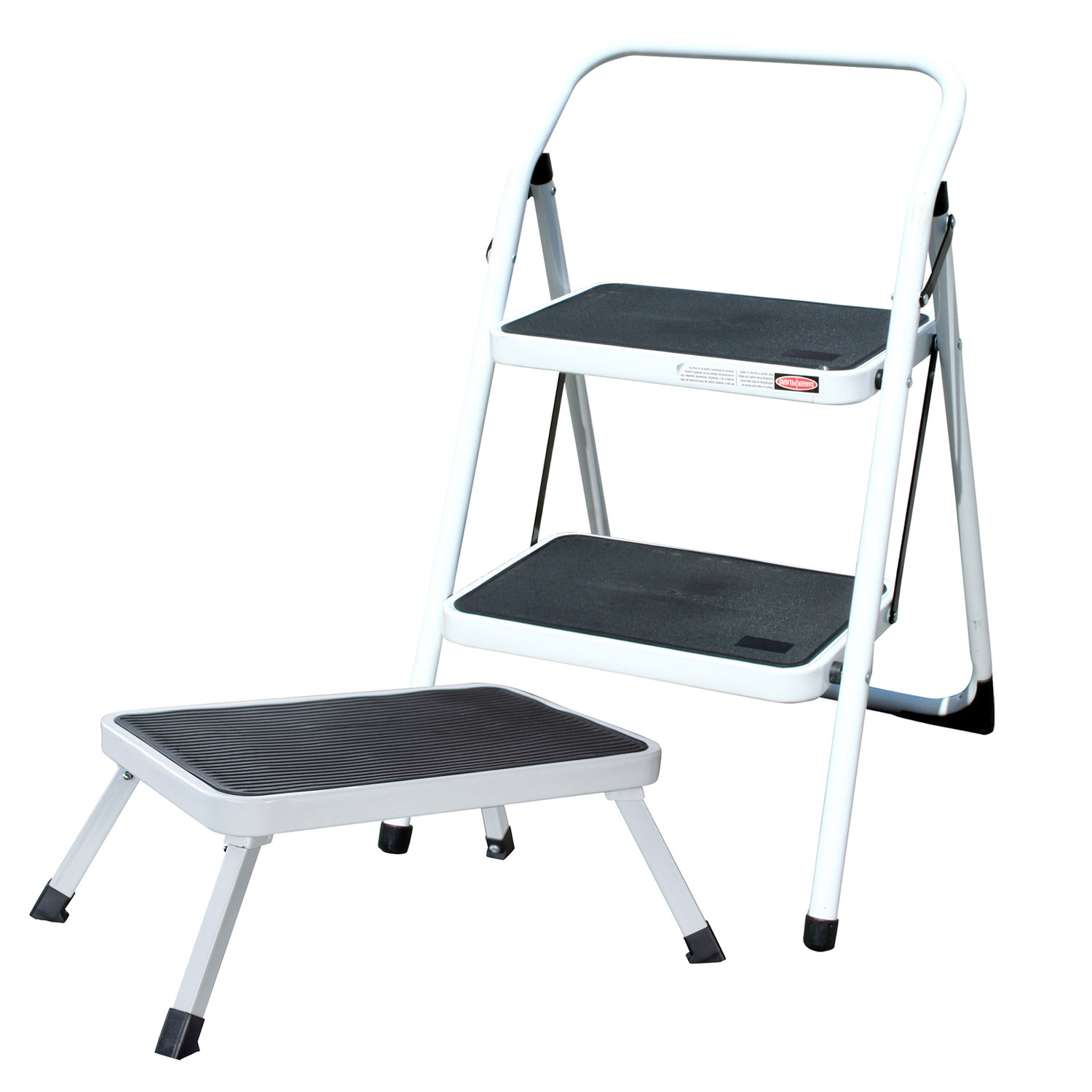 2-Step Utility Stool With 1-Step Folding Platform Stool Set