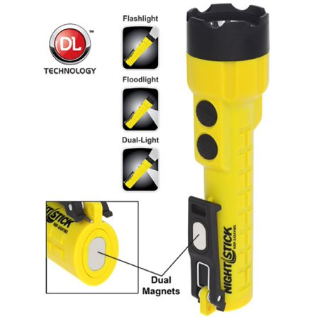 Nightstick X-Series Dual-Light w-Dual Magnets Yellow Body