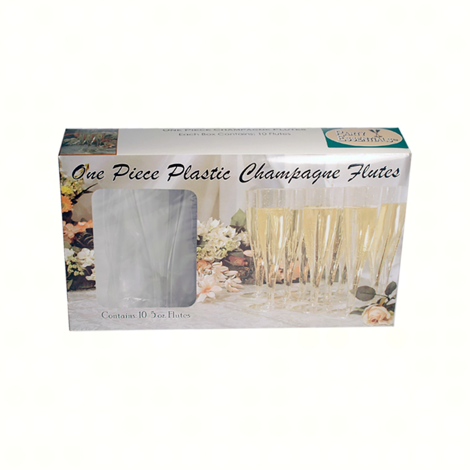 1 pc 5 oz Champagne Flutes  Clear 10 ct Boxes