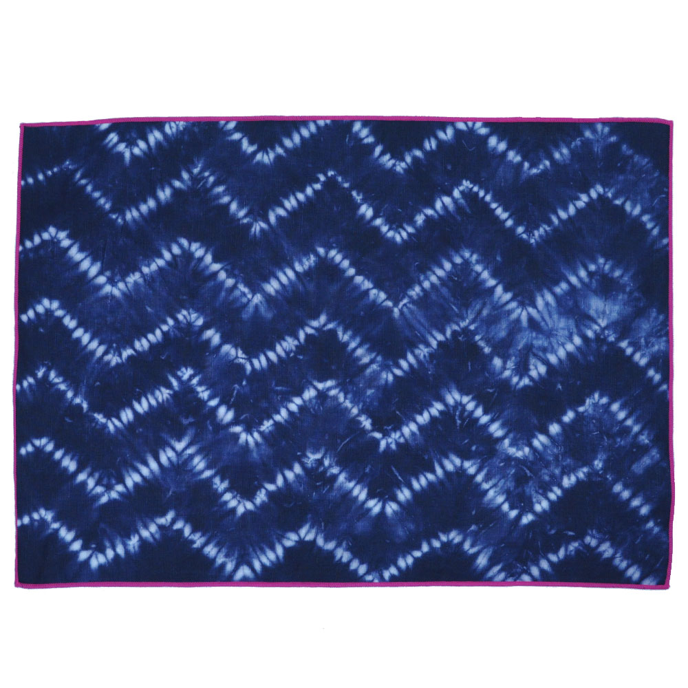 CALYZ GGPCAL003 INDIGO CHEVRON PLACEMATS SET OF 4 THE COTTON