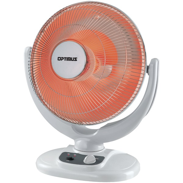 "Optimus 14"" Oscillation Dish Heater with Tip-Over Safety Switch"