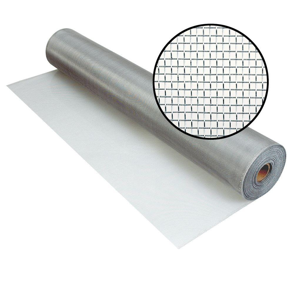 3000031 36 IN. X100 FT. BRIGHT ALUMINUM SCREEN