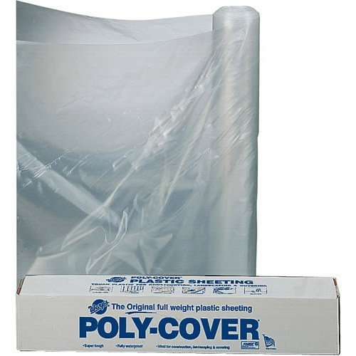 20 Ft  X 100 Ft  6 Mil Polyethylene Clear Plastic Sheeting, Clear