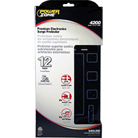 Powerzone OR504142 Heavy Duty Surge Protector, Black