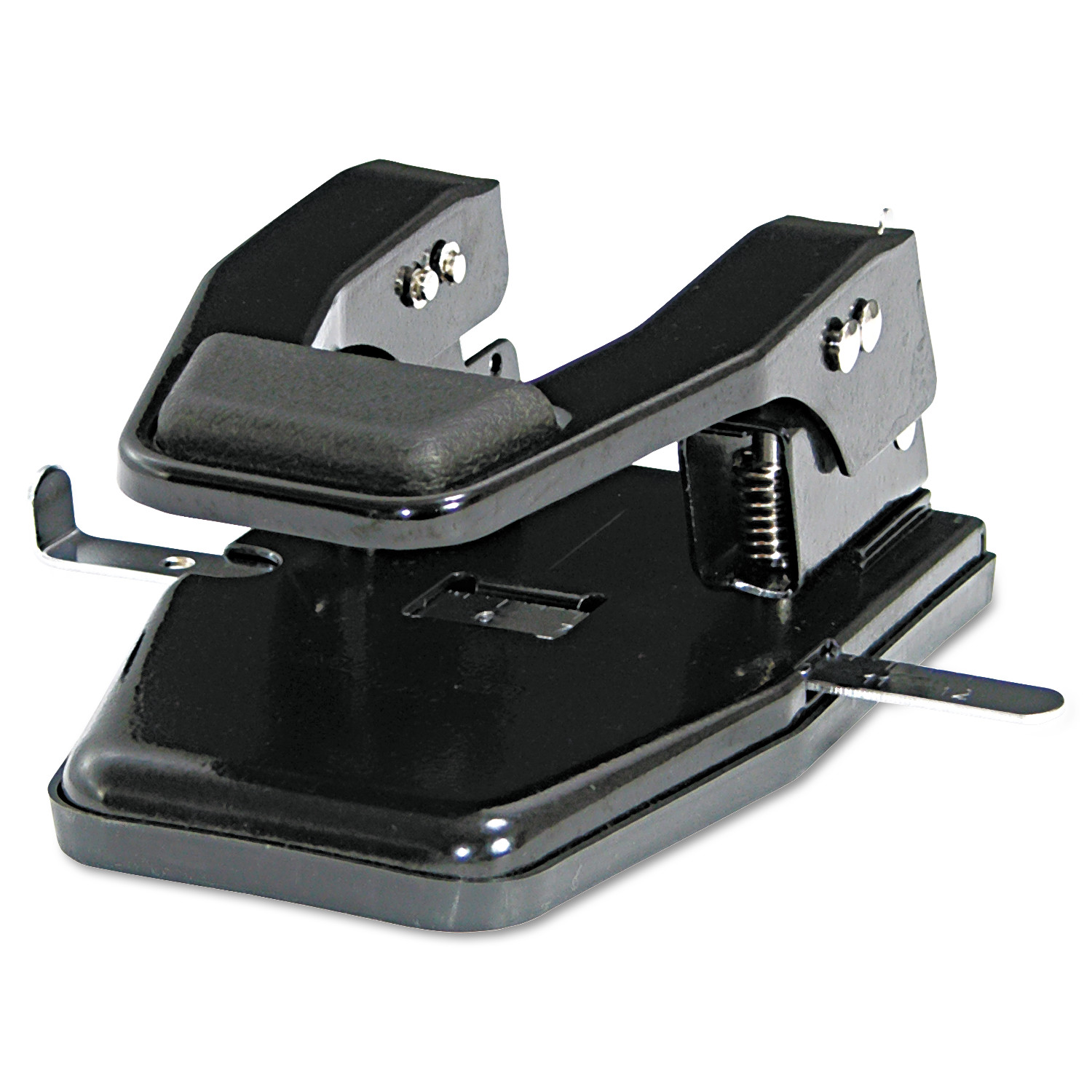 "40-Sheet Heavy-Duty Two-Hole Punch, 9/32"" Holes, Padded Handle, Black"