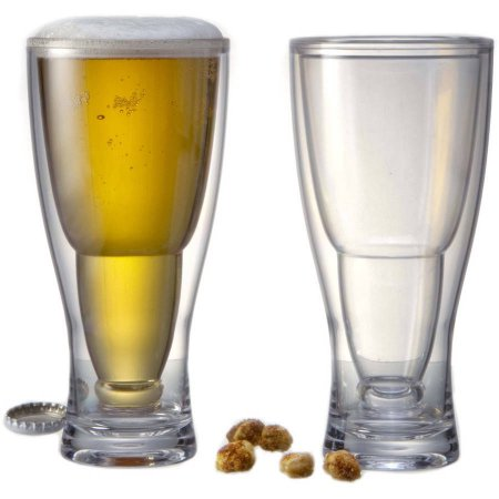 PRODYNE BG2 HOPSY TURVY UPSIDE DOWN BEER GLASS 2 PACK