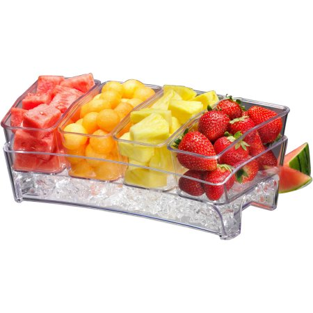 PRODYNE SB6 CONDIMENT BAR ON ICE SIMPLY FILL BOTTOM OF TRAY