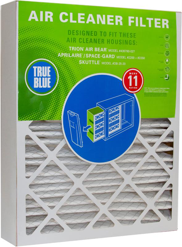 True Blue® Air Cleaner Filter for Honeywell, Trion AIR BEAR, Aprilaire Space-Gard and SKUTTLE