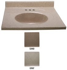 PREMIER� BATHROOM VANITY TOP, CULTURED GRANITE, SAND, 31 IN. X 22 IN.