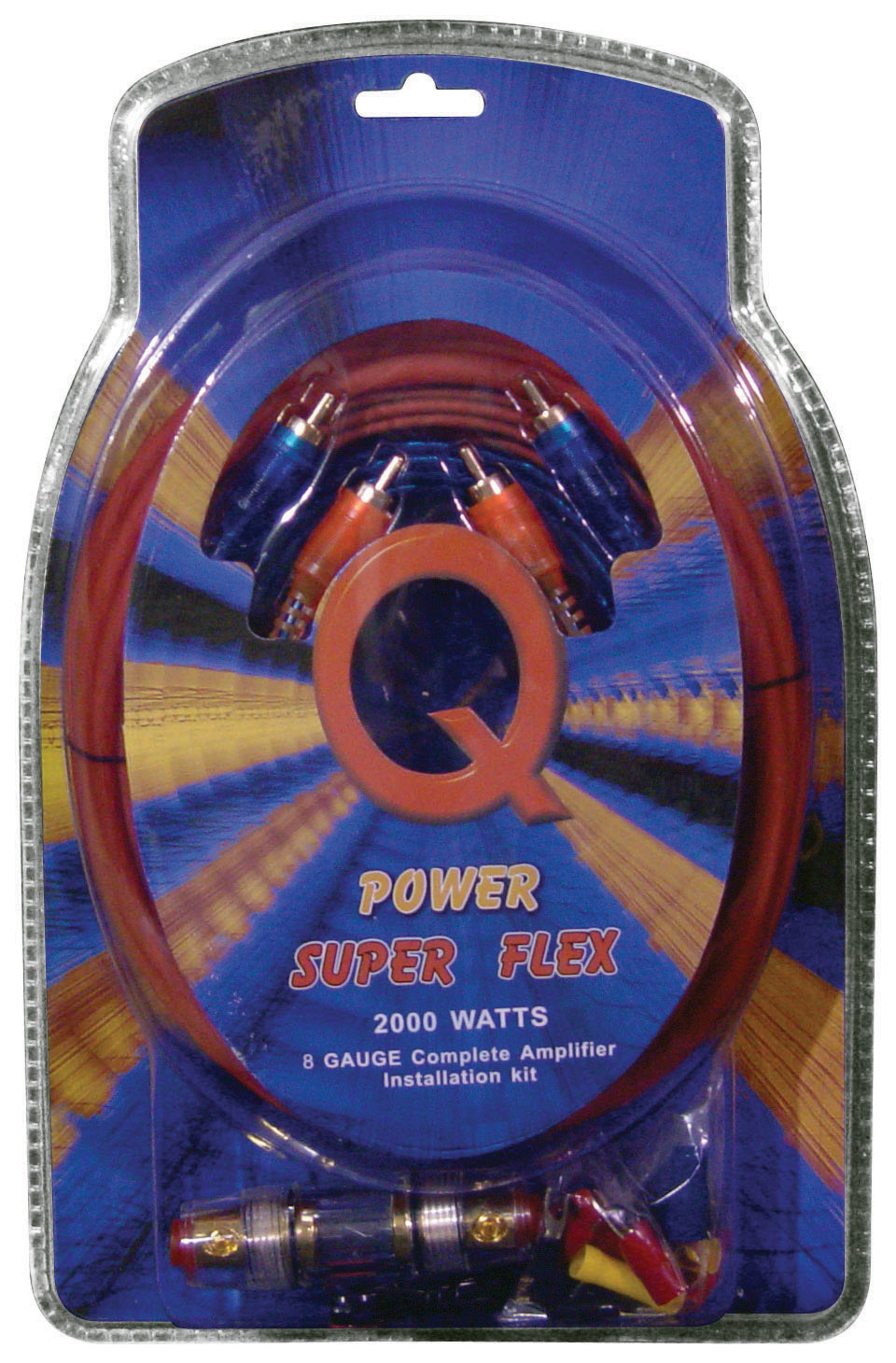 Only 1210 Qpower 8 Gauge Amp Kit Super Flex 813177022733 0 Wiring 8gampkitsflex