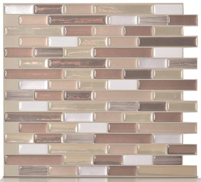 Only tile wall durango muretto 1pk 623996510409 for Autocollant mural walmart