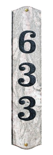 Solid Granite Address Plaque, Wexford Vertical, Five Color Natural