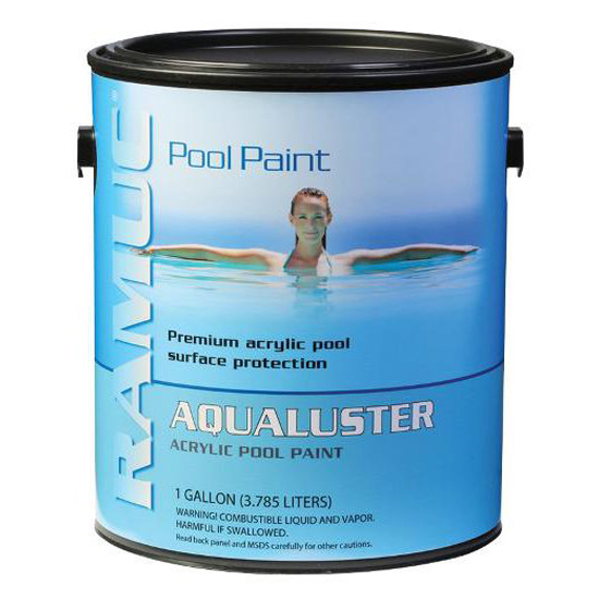 only aqualuster acrylic pool coating paint royal blue 1 gallon 725469024816. Black Bedroom Furniture Sets. Home Design Ideas