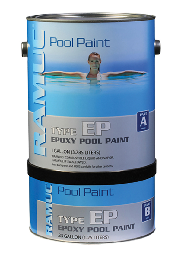 Only type ep epoxy swimming pool paint dark blue for Epoxy pool paint