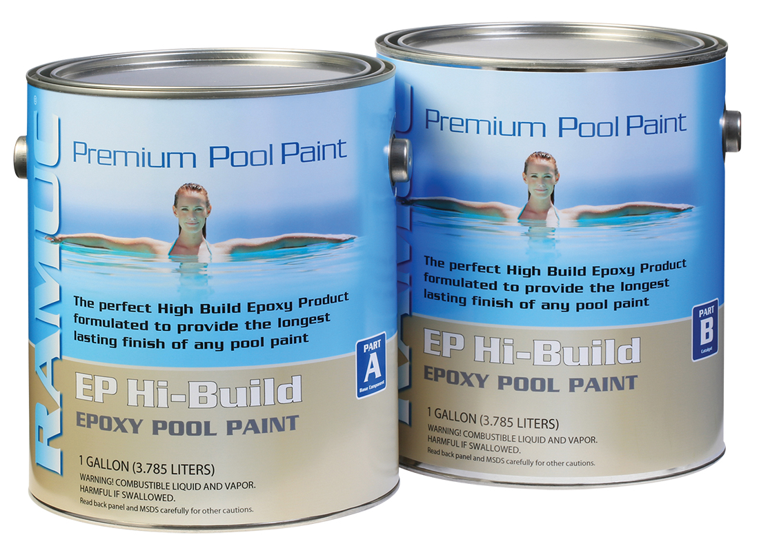 Only Type Ep Hibuild Epoxy Swimming Pool Paint Dawn Blue 2 Gallon 725469024786