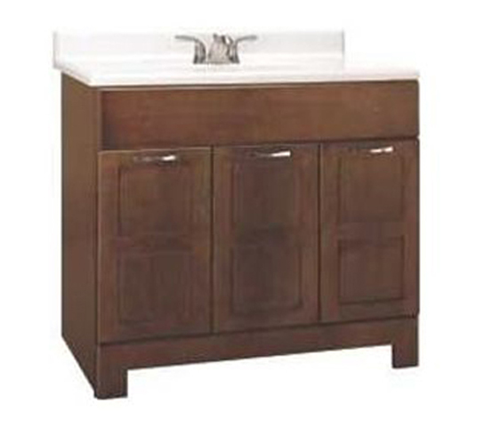 Rsi Home Products Chandler Bathroom Vanity Cabinet Fully Embled Cognac 36x21x33 1 2