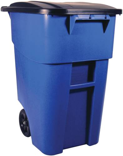 BRUTE� ROLLOUT TRASH CAN WITH LID, BLUE, 50 GALLONS