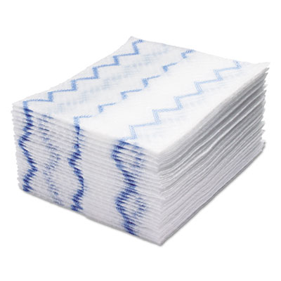 HYGEN Disposable Microfiber Cleaning Cloths, White/Blue, 12.2 x 14.3, 640/Pack