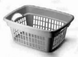 Rubbermaid FG287400WHT Laundry Basket, 1.25 bushel, 13.8 in H x 19.3 in W x 23.9 in D