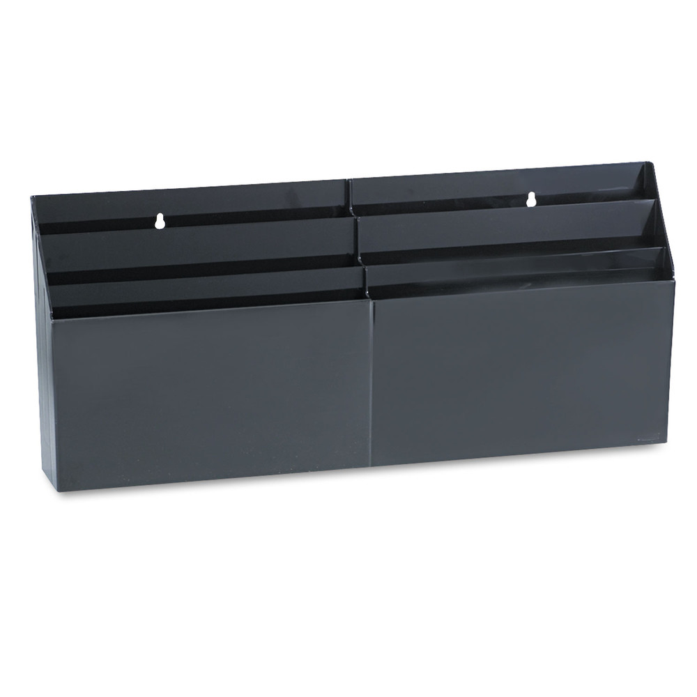 "Optimizers Six-Pocket Organizer, 26 21/32"" x 3 4/5"" x 11 9/16"", Black"