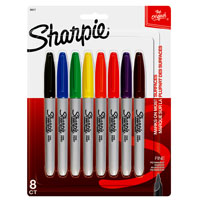 Sharpie 30217 Pen Style Fine Point Permanent Marker, 8 Pieces, Assorted