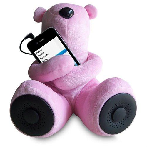 ALPHA DIGITAL S-T1-P PINK PORTABLE TEDDY SPEAKER FOR IPOD