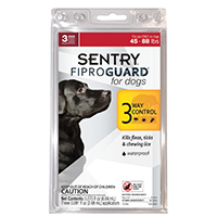 Sentry 02952 Fiproguard Flea and Tick Squeeze-On, 3 Count, Liquid, Clear
