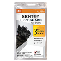 Sentry 02950 Fiproguard Flea and Tick Squeeze-On, 3 Count, Liquid, Clear