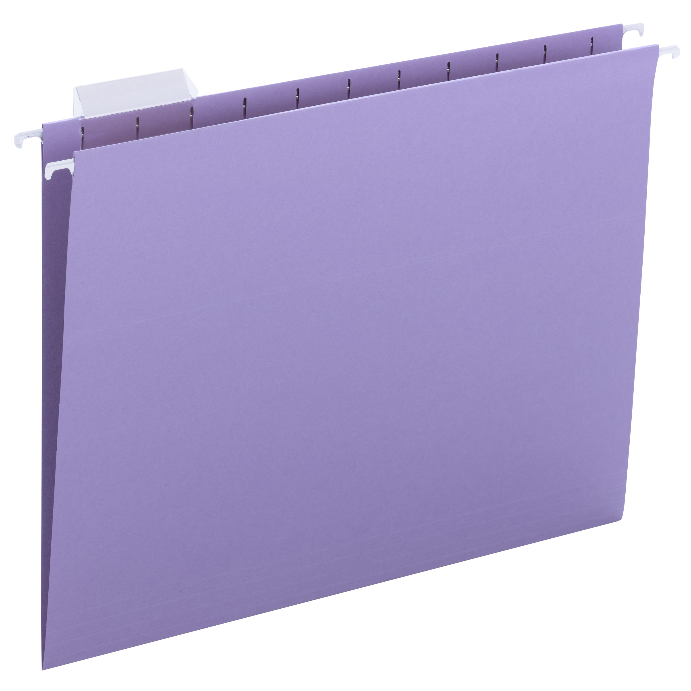 Hanging File Folders, 1/5 Tab, 11 Point Stock, Letter, Lavender, 25/Box