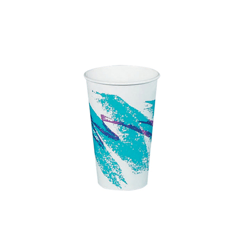 16-oz. Jazz Design Paper Hot Cups, 1000 Cups