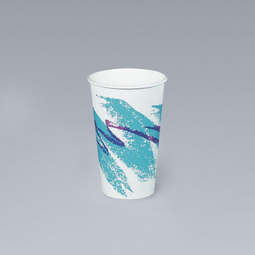 12-oz. Jazz Design Paper Hot Cups, 1000 Cups