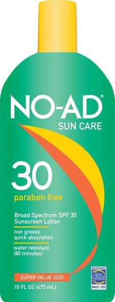 No-Ad 214 SPF 30 Sunblock Lotion, 16 oz, Lotion