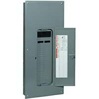 Square D QO142M200PC PoN Convertible Mains Load Center, 120/240 VAC, 200 A, 1 Phases, 22000 AIR Interrupt, Steel