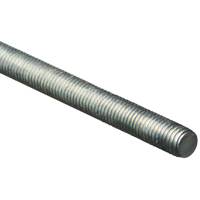 Stanley 179531 Threaded Rod, 1/2-13 x 36 in, Low Carbon Steel, Zinc Plated
