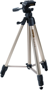 "Sunpak 620-080 Tripod with 3-Way Pan Head (Folded height: 20.8""; Extended height: 60.2""; Weight: 2.3lbs; Includes 2nd quick-r"