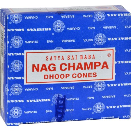 Sai Baba Nag Champa Incense Cone  Case of 12  12 Packs