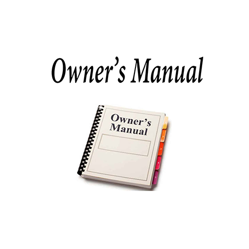OWNERS MANUAL FOR SE500